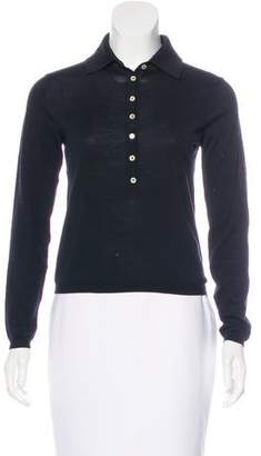 Malo Collared Button-Up Top