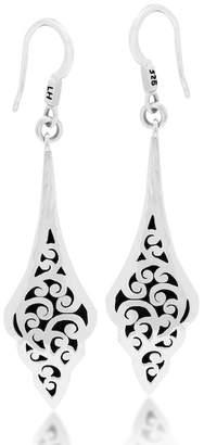 Lois Hill Sterling Silver Filigree Geo Drop Earrings
