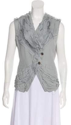 Issey Miyake Silk Pleated Top