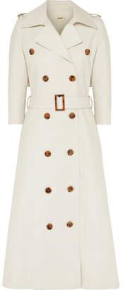 Khaite - Charlotte Cotton-gabardine Trench Coat - Cream