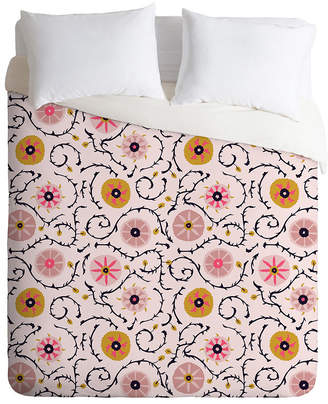 Deny Designs Holli Zollinger Suzani Pink Queen Duvet Set Bedding