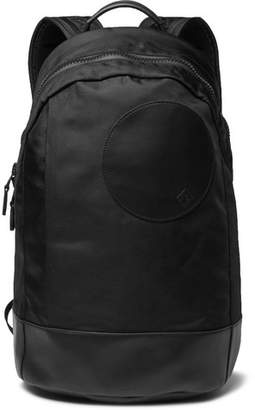 Dunhill Radial Leather-Trimmed Shell Backpack - Black