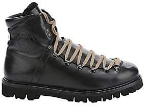 Bally Men's Chack Shearling-Trim Leather Hiking Boots