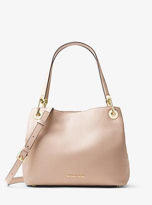 Michael Kors Raven Medium Pebbled Leather Shoulder Bag