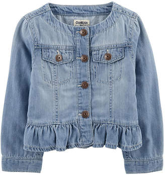 Osh Kosh Oshkosh Peplum Girls Denim Jacket-Baby
