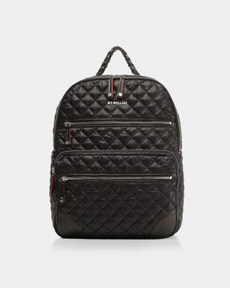 MZ Wallace Black with Silver Hardware Crosby Backpack Traveler