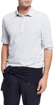 Brunello Cucinelli Long-Sleeve Cotton Polo Shirt