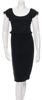 Valentino Polka-Dot Midi Dress w/ Tags