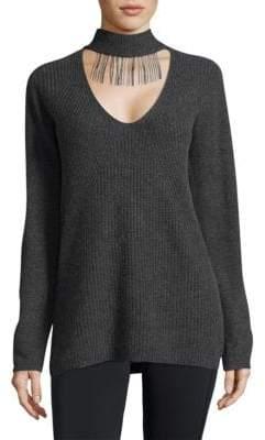Elie Tahari Cashmere Choker Sweater