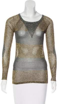 Isabel Marant Semi-Sheer Metallic Top