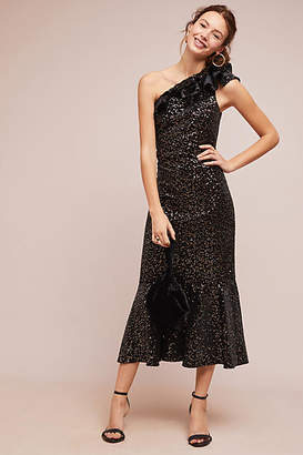 Shoshanna Evadene One-Shoulder Dress