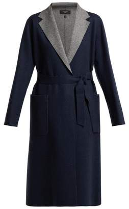 Max Mara Saveria Coat - Womens - Navy Multi