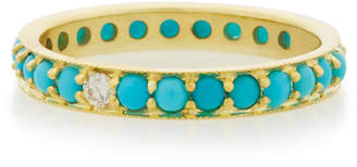 Ila Dunbar 14K Gold Turquoise and Diamond Ring