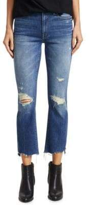 Mother Insider Cropped Distress Jeans
