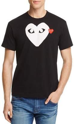 Comme des Garcons Double Heart Logo Graphic Tee