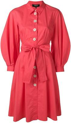 Paule Ka puff sleeve shirt dress