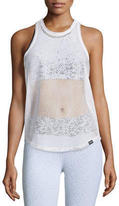 Koral Activewear Aerate Athletic Mesh Tank Top
