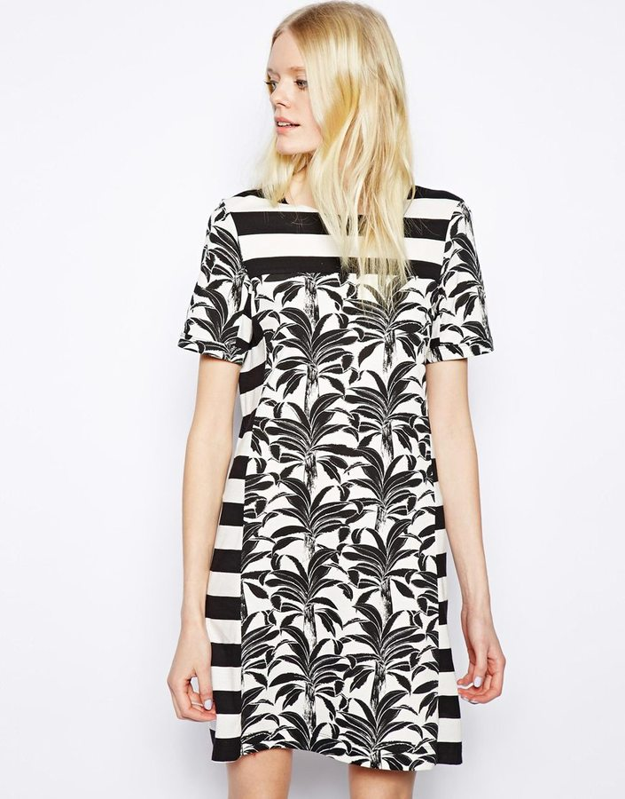 See by Chloe Dress in Palms and Stripes Print