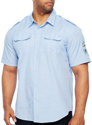 Ecko Unlimited Unltd Short Sleeve Button-Front Shirt-Big and Tall