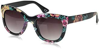 Foster Grant Women's Sge 71 Blk Wayfarer Sunglasses