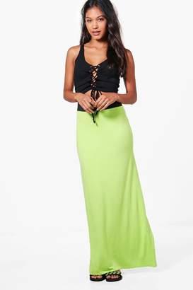 boohoo Contrast Waist Jersey Maxi Skirt