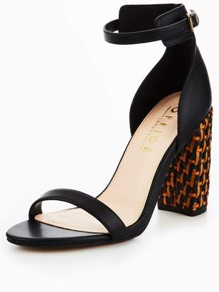 Office Hip High Weave Heel Shoe - Black