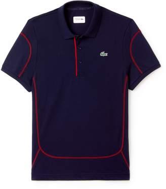 Lacoste Men's SPORT Contrast Stitching Light Cotton Tennis Polo