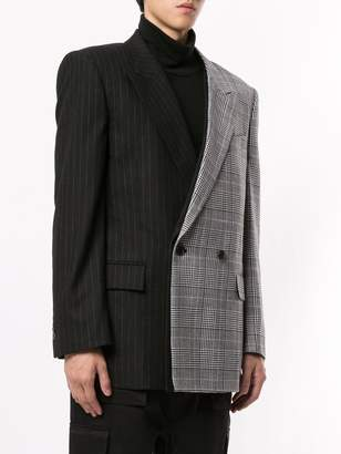 Juun.J pattern clash blazer