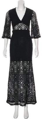 Nightcap Clothing Lace V-Neck Maxi Dress