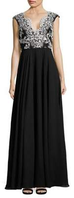 Aidan Mattox Lace Bodice Gown