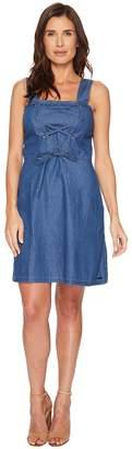 U.S. Polo Assn. Lace-Up Denim Dress Women's Dress