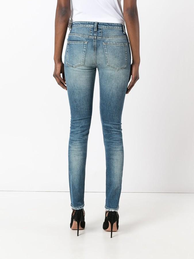 Saint Laurent ripped detail jeans
