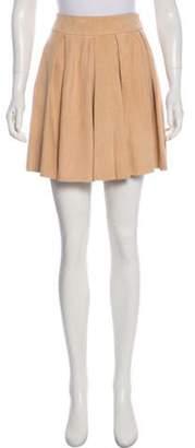 Alice + Olivia Leather Mini Skirt w/ Tags Tan Leather Mini Skirt w/ Tags