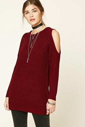 FOREVER 21+ Longline Open-Shoulder Sweater $19.90 thestylecure.com