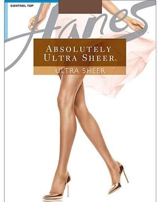 Hanes Absolutely Ultra Sheer Control Top, Reinforced Toe Pantyhose 3-Pack