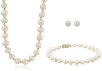 14K Yellow Gold 5.5-6mm Freshwater Cultured Pearl Necklace