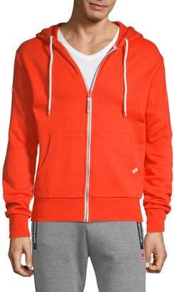 Superdry Logo Hooded Cotton Blend Jacket