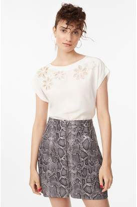 Rebecca Taylor Embroidered Floral Silk Top