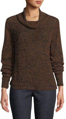 Eileen Fisher Textured-Knit Funnel-Neck Sweater