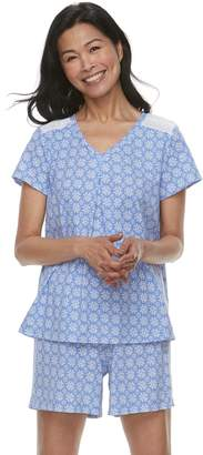 Croft & Barrow Women's Printed Tee & Shorts Pajama Set