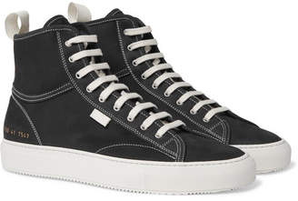 Common Projects Tournament Nubuck High-Top Sneakers - Men - Black