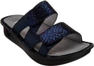 Alegria Leather Adjustable Slide Sandals - Camille