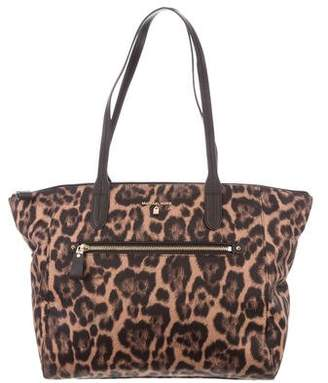 Michael Kors Leather-Trimmed Animal Print Tote