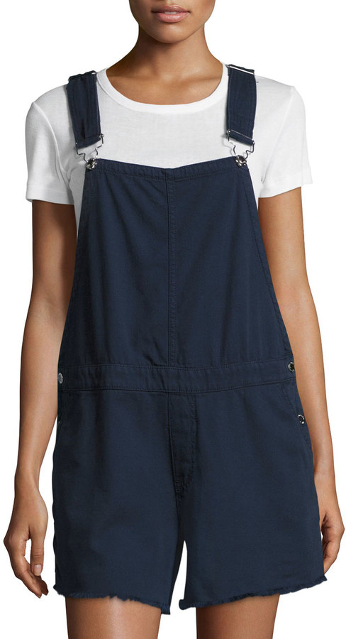 Cheap Monday Cheap Monday Cut-Bib Short Overalls, Dark Blue