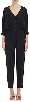Mayle Maison Women's Saint Phalle Jacquard Silk Jumpsuit