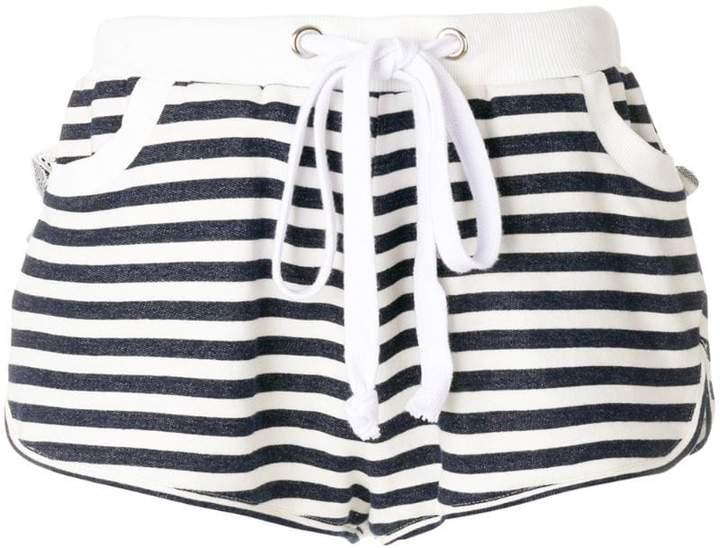 drawstring stripe shorts