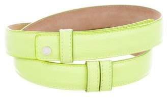 Jimmy Choo Leather Snap Front Belt