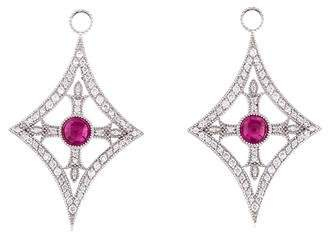 Jude Frances 18K Ruby & Diamond Earrings Enhancers