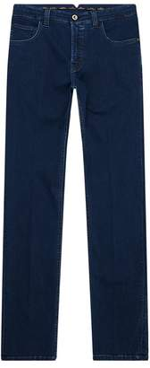 Stefano Ricci Embroidered Pocket Jeans