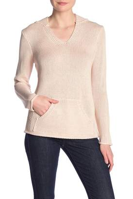 Catherine Malandrino Solid Kangaroo Pocket Sweater Hoodie
